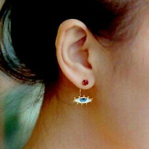 💗Evil Eye w/ Red Stud Earrings